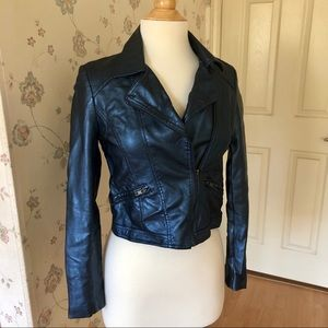 Forever 21 Blue Faux Leather Jacket